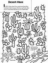 Desert Coloring Maze Crayola Cactus Sheets Western Drawing Google Landscape Biome Texas Crafts Printable Boys Colouring Monster York Cacti River sketch template