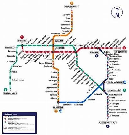 Metro Mapa Santiago San Normal Plano Joaquin