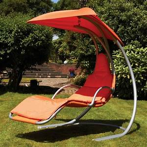Fauteuil Suspendu Sur Pied : chaise longue suspendue et fauteuil relax ~ Melissatoandfro.com Idées de Décoration
