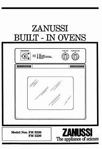 Zanussi Oven Fm 9230 User Guide
