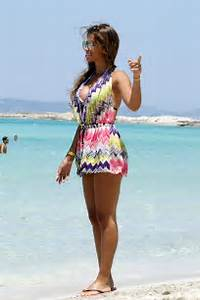 Antonella Roccuzzo in Short Summer Dress on holiday in ...