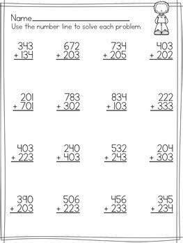 simple  digit addition worksheets  regrouping