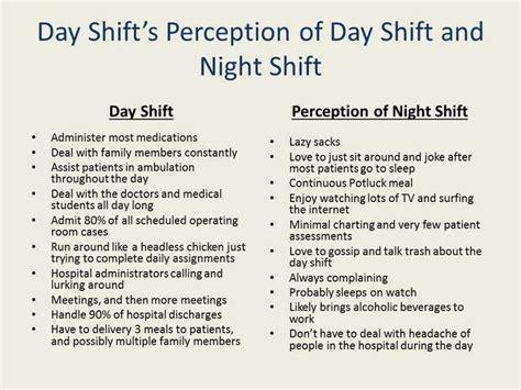 day shift  night shift nurses gomerblog