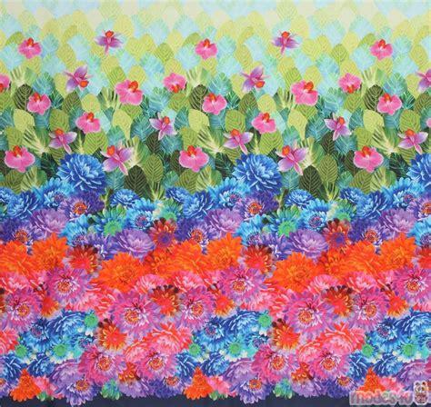 Michael Miller colorful flower digital print fabric - modeS4u