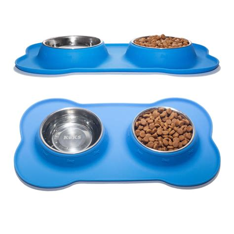 mat for bowls set of 2 stainless steel bowls with non skid no