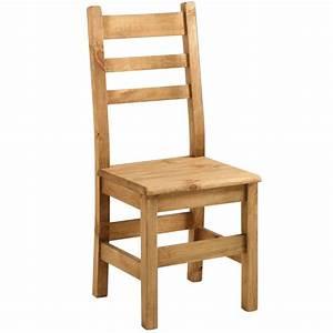 Chaise En Pin : chaise campagne en pin massif cir bross petit prix ~ Teatrodelosmanantiales.com Idées de Décoration