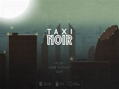 Title Taxi Screen Noir Cyberpunk Dribbble Futuristic
