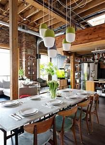 Sejour Style Industriel : salle manger style industriel et moderne ~ Teatrodelosmanantiales.com Idées de Décoration