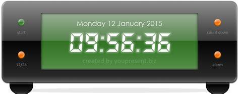 Free Powerpoint Digital Clock, Alarm & Countdown Youpresent