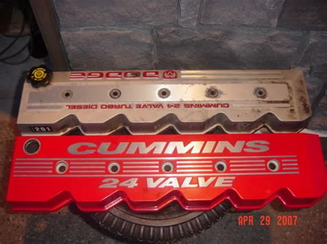 Cummins Valve Cover by Red Valve Cover Dodge Diesel Diesel Truck Resource Forums