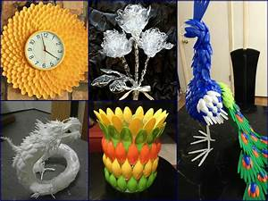 Plastic Spoon Craft Ideas - Recycled Home Decor - YouTube
