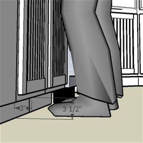 optimal toe kick dimensions  cabinet design
