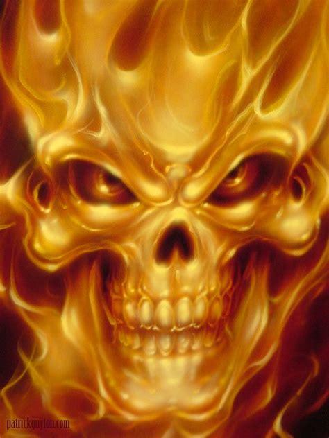 Fire Skull Skulls Skeletons Pinterest Tete Mort