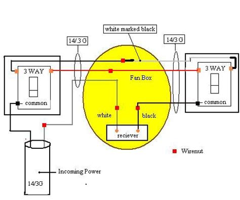 wiring a ceiling fan with remote and wall switch home outdoor lighting wiring diagram