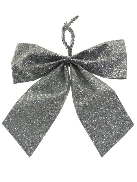 small silver bow decorations   mm christmas