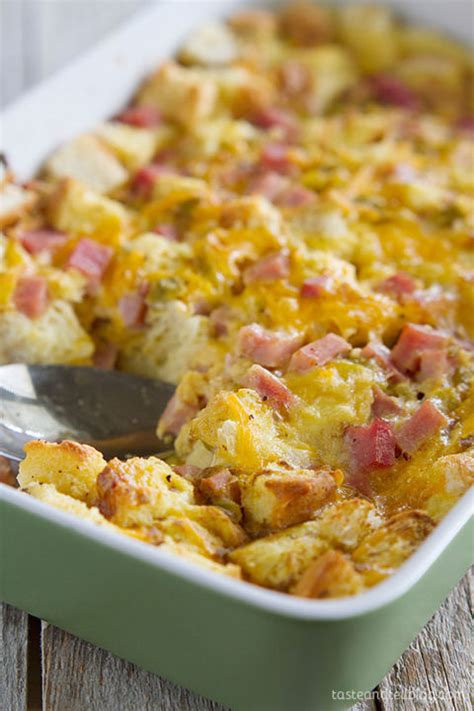casserole breakfast ham recipe cheese easy recipes egg ahead taste tell eggs ayam bread ramai resepinya yang delish minta ini