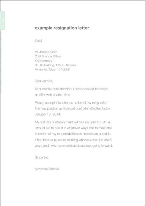 resignation letter polite