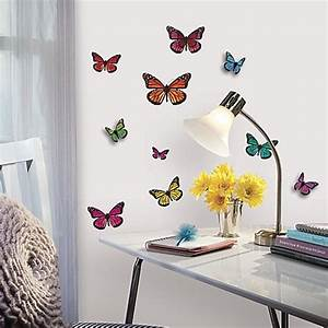 buy roommates 3d butterflies peel stick wall decals from With butterfly wall decals
