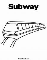 Subway Coloring Tunnel Template Metro sketch template