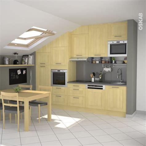 plan de travail cuisine verre cuisine en bois porte contemporaine betula bouleau
