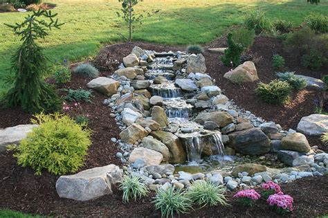pond with waterfall water features home turf yard and home maintenance