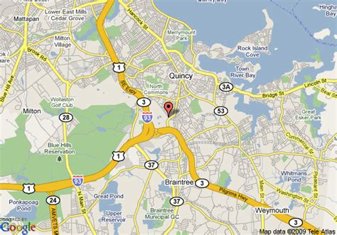 map  marriott boston quincy quincy