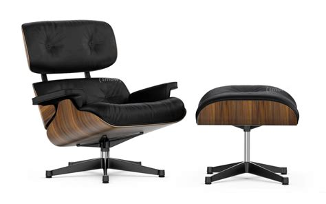 eams chaise vitra lounge chair ottoman by charles eames 1956