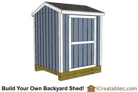 6x6 Storage Shed Plans by 6x6 Shed Plans 6x6 Storage Shed Plans Icreatables