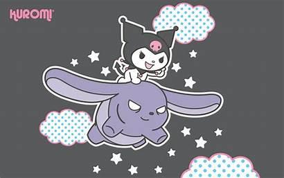 Kuromi Sanrio Wallpapers Kitty Hello Backgrounds Kawaii