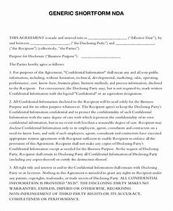 nda confidentiality agreement template standard non With nda template word document
