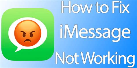 fix imessage not working on iphone or running ios 10