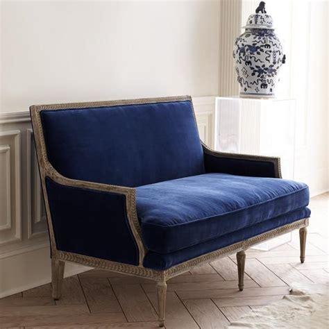 Blue Velvet Settee blue velvet settee