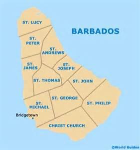 Barbados Parish Map