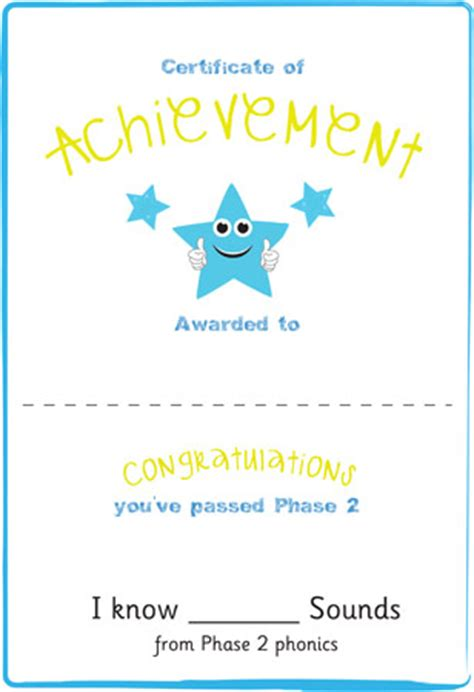 early learning resources phase  editable certificate