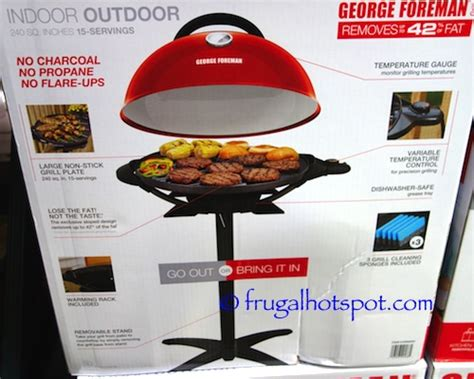 costco sale george foreman electric grill  frugal hotspot