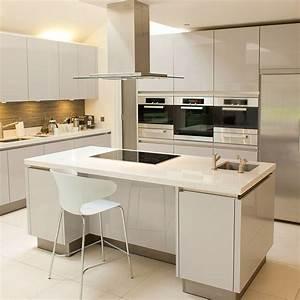 Cuisine Blanche Plan De Travail Gris : cuisine blanche plan de travail gris avenue joinville ~ Melissatoandfro.com Idées de Décoration