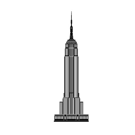 Empire State Building Silhouette At Getdrawingscom Free