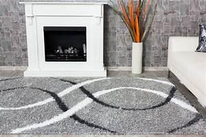 Hochflor Teppich Weiß : teppich shaggy portofino hochflor 160x230 cm grau wei ~ Watch28wear.com Haus und Dekorationen