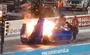 Camaro Nitrous Explosion | DragTimes.com Drag Racing, Fast ...