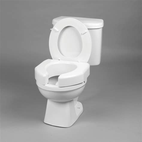 Maxiaids Basic Elevated Toilet Seat Open Front