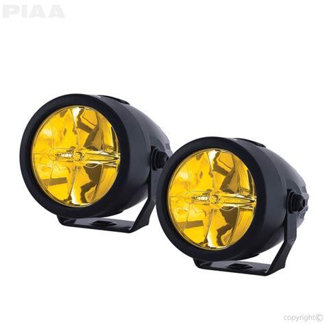 yellow led fog lights piaa lp270 ion yellow 2 75 quot led driving light kit 22 73272