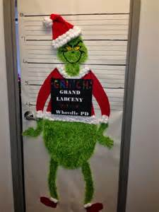 The Grinch Christmas Decoration by Simple As 1 2 3 Christmas Classroom Door Ideas