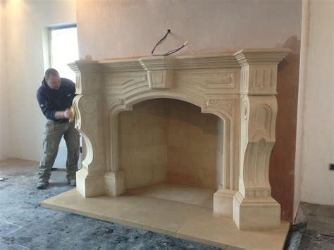 templestone masonrys ornate italian fireplace  mantel