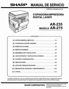 Sharp Ar 235 Ar 275 Service Parts List Circuit Diagram