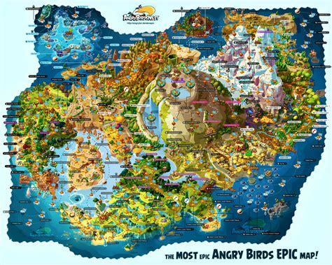 fully labeled map  angry birds epics piggy island
