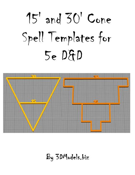 d d spell templates 15 and 30 cone spell templates for 5e d d 3dmodels biz rpgnow