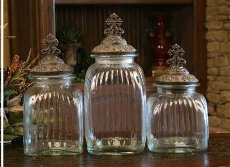 "Drake Design ""Cross"" Clear Canister Set of 3   Home"