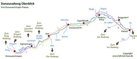 donauradweg radwegbeschreibung von donaueschingen bis passau