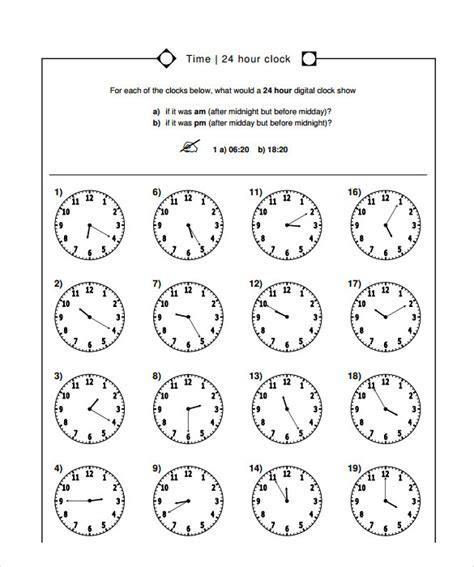 sle time worksheet 8 documents in pdf