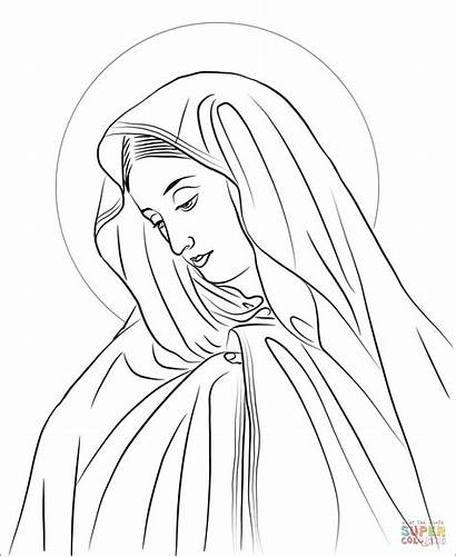 Lady Coloring Sorrows Pages Mary Seven Fatima